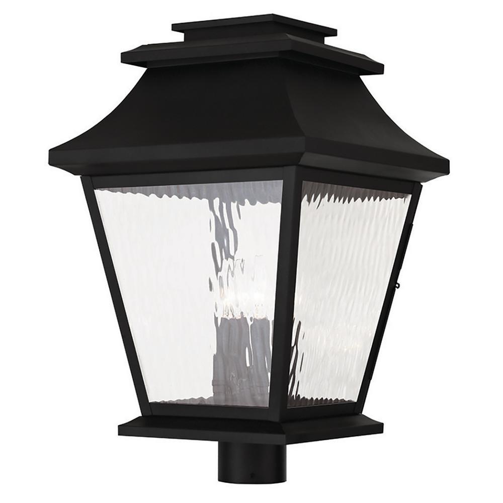 Hathaway 4-Light Outdoor Black Post Light
