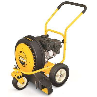 150 MPH 1000 CFM 208 cc Walk-Behind Gas Leaf Blower with Swivel Front Wheel and 90-Degree Flow Diverter