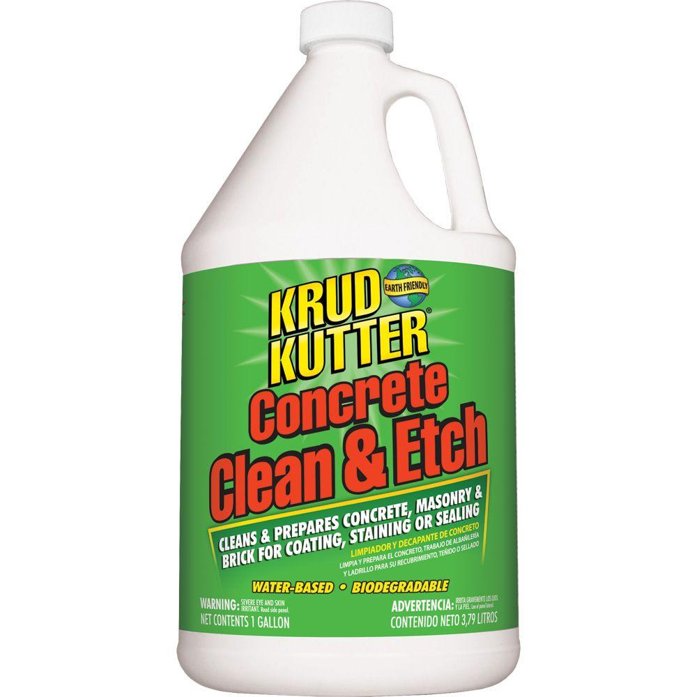 Krud kutter 1 gal concrete clean and etch ce016 the for Cement cleaning products