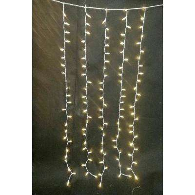 7 ft. 300-Light LED Warm White Multi-Function Icicle Light String