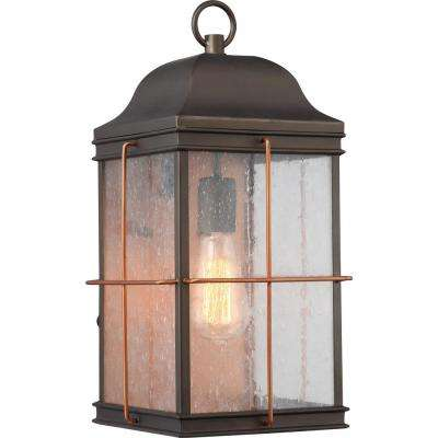 1-Light Bronze Outdoor Wall Mount Sconce