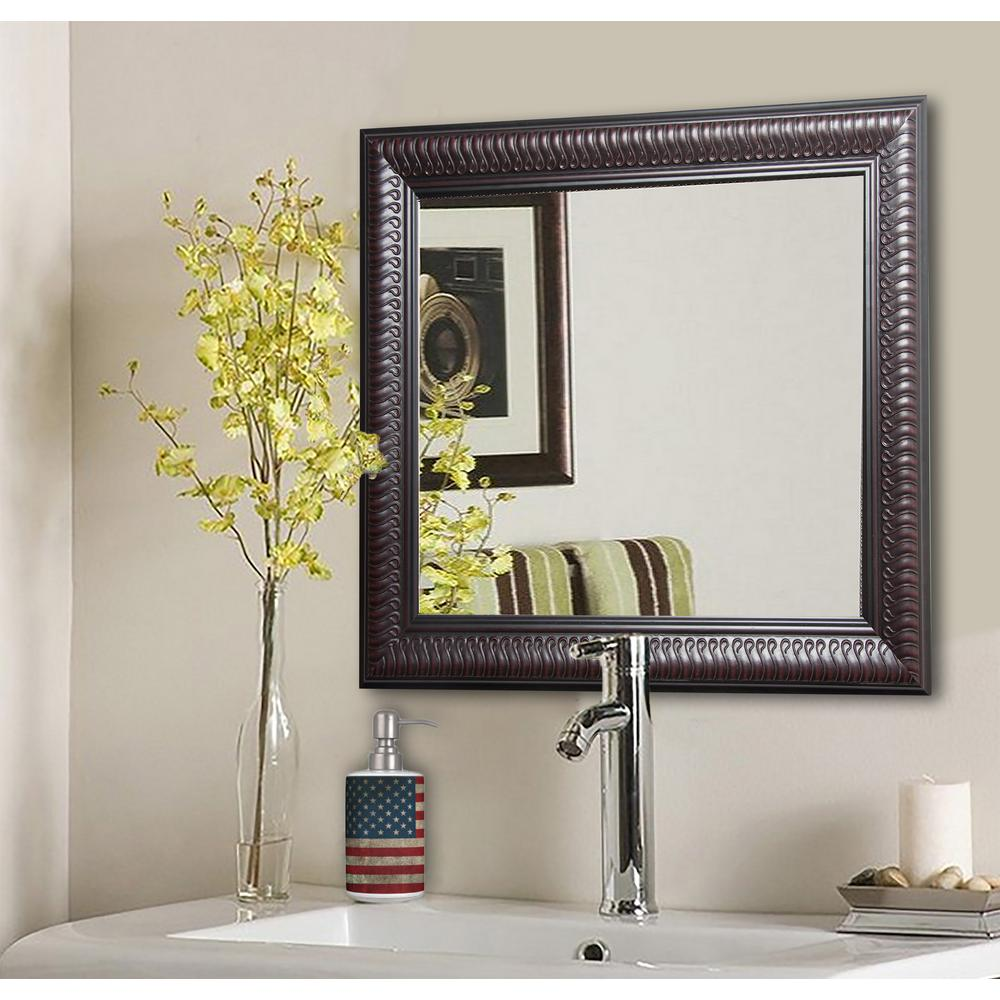 35.5 in. x 35.5 in. Royal Curve Square Vanity Wall Mirror