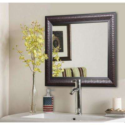 21.5 in. x 21.5 in. Royal Curve Square Vanity Wall Mirror