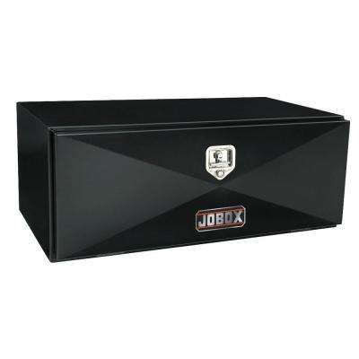 24 in. Long Heavy-Gauge Steel Under Bed Box in Black
