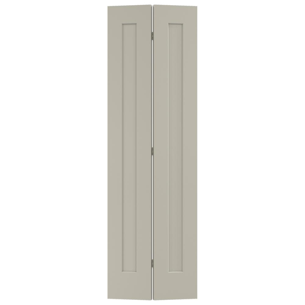 Jeld Wen 24 In X 80 In Madison Desert Sand Painted Smooth Molded Composite Mdf Closet Bi Fold Door