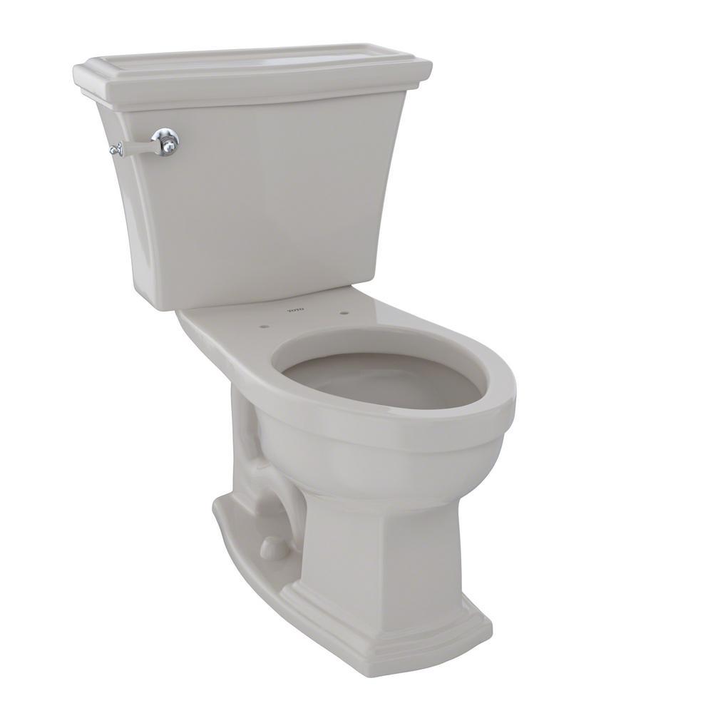 TOTO Eco Soiree 1-Piece 1.28 GPF Single Flush Elongated Skirted ...
