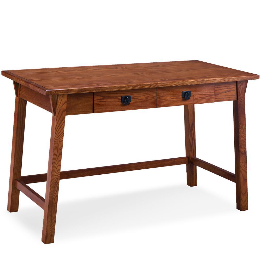 Leick Furniture Mission Oak Wedge Corbel Laptop Writing