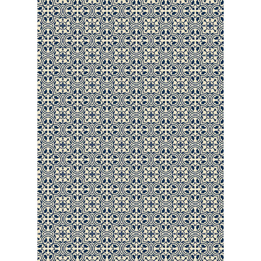 Aspen Brands Quad European Design 5ft X 7ft Blue White Indoor