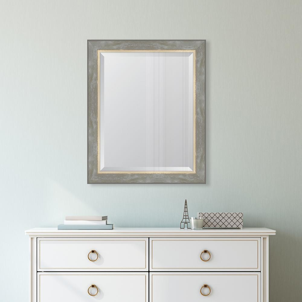 28 in. x 34 in. Champagne Catalina Framed Mirror
