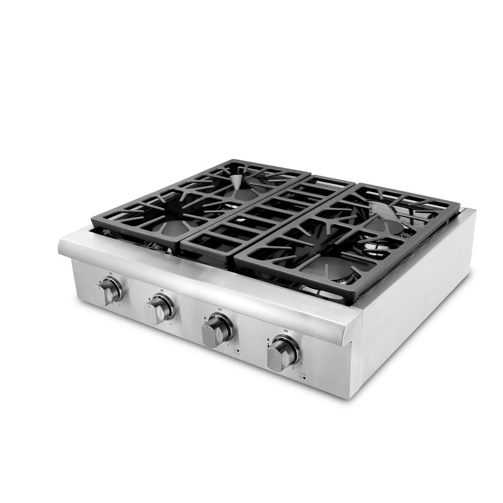 Thor Kitchen 30 in. Gas Cooktop in Stainless Steel (Silve...