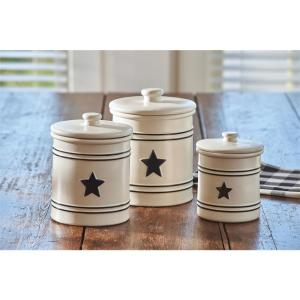 Country Star Cream Canisters (Set of 3)