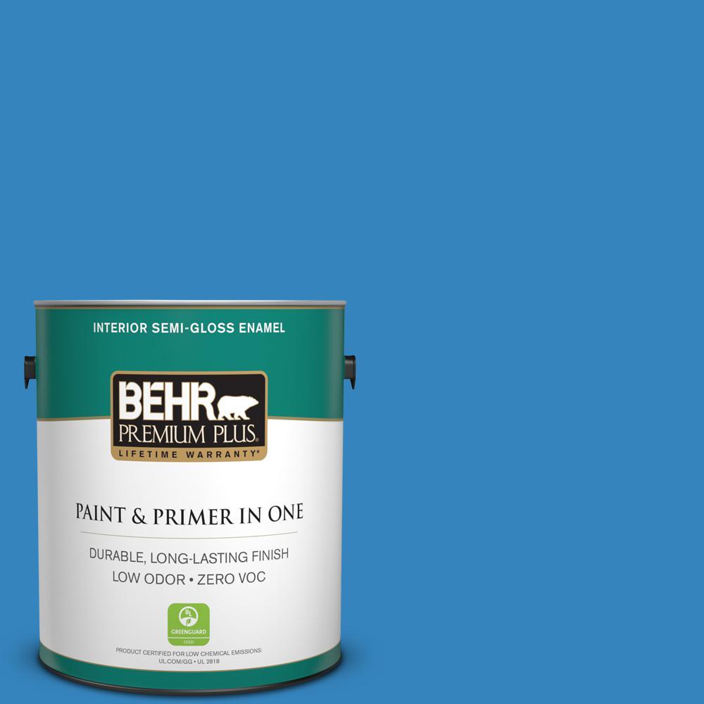BEHR Premium Plus 1-gal. #560B-6 Warm Spring Zero VOC Semi-Gloss Enamel Interior Paint