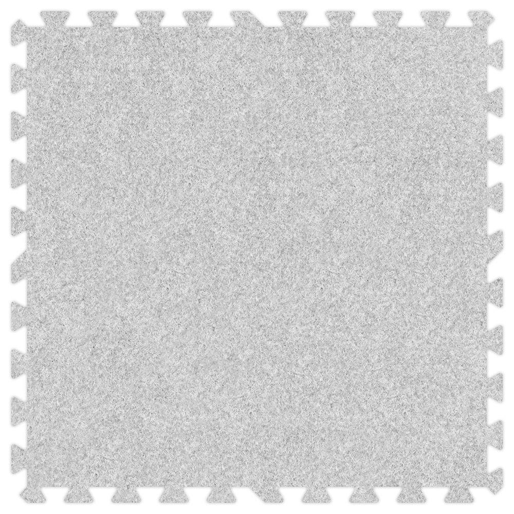 Groovy Mats Smoke 24 in. x 24 in. Comfortable Carpet Mat (100 sq. ft. / Case)