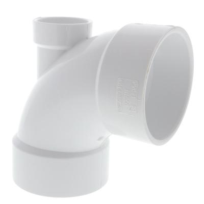 3 in. x 3 in. x 1-1/2 in. PVC DWV 90-Degree Hub x Hub Elbow