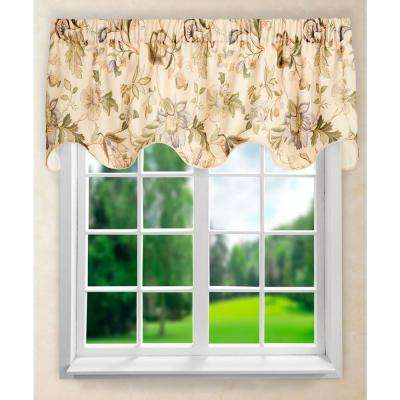 Brissac 17 in. L Polyetser Lined Scallop Valance in Linen
