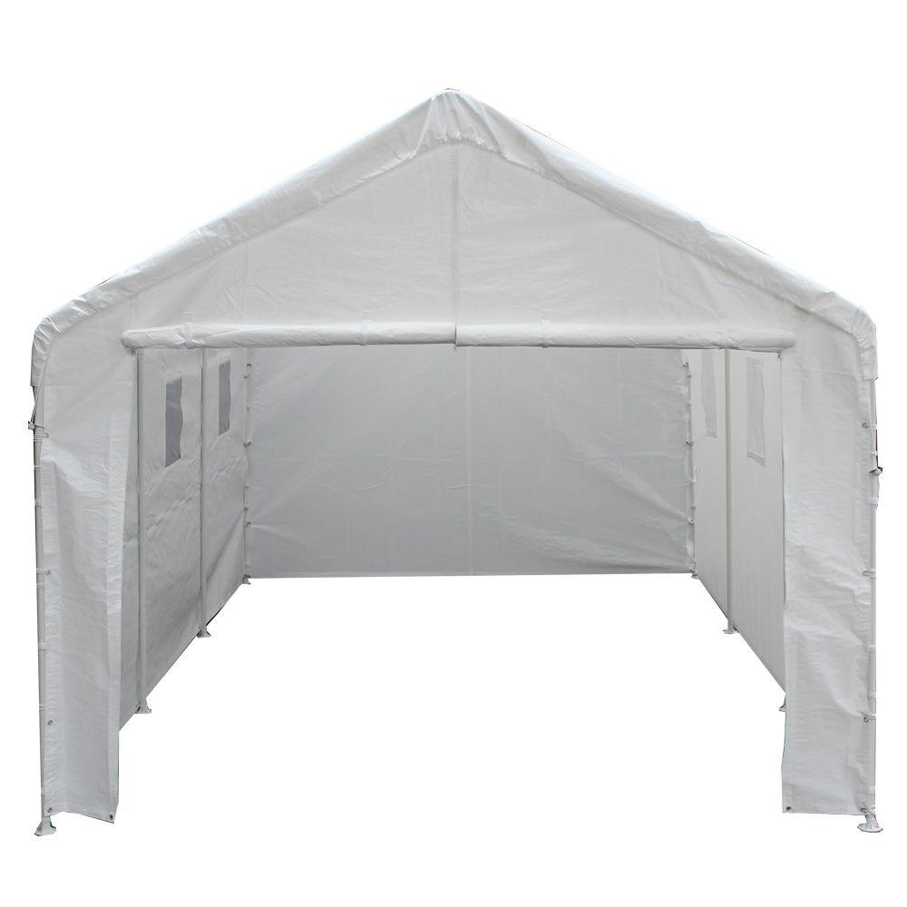 King Canopy 10 Ft W X 20 Ft D Universal Enclosed Canopy Bj2pc The Home Depot