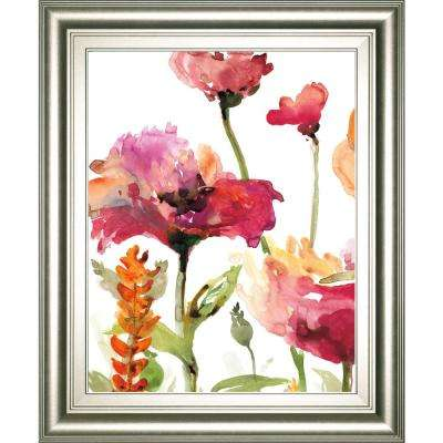 """22 in. x 26 in. """"Blooms and Greens"""" by Rebecca Meyers Framed Printed Wall Art"""