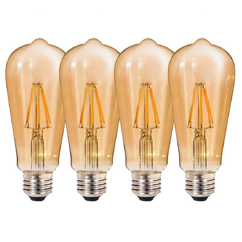 Westinghouse 40w Equivalent Amber St20 Dimmable Filament: Clearly LED 60W Equivalent Amber ST64 Dimmable Shatter
