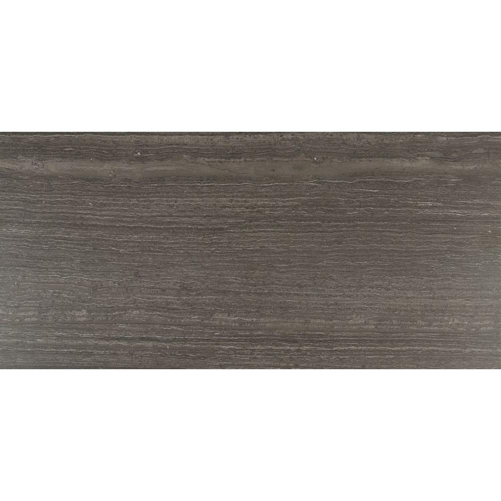 Classico Notte 12 in. x 24 in. Glazed Porcelain Floor and