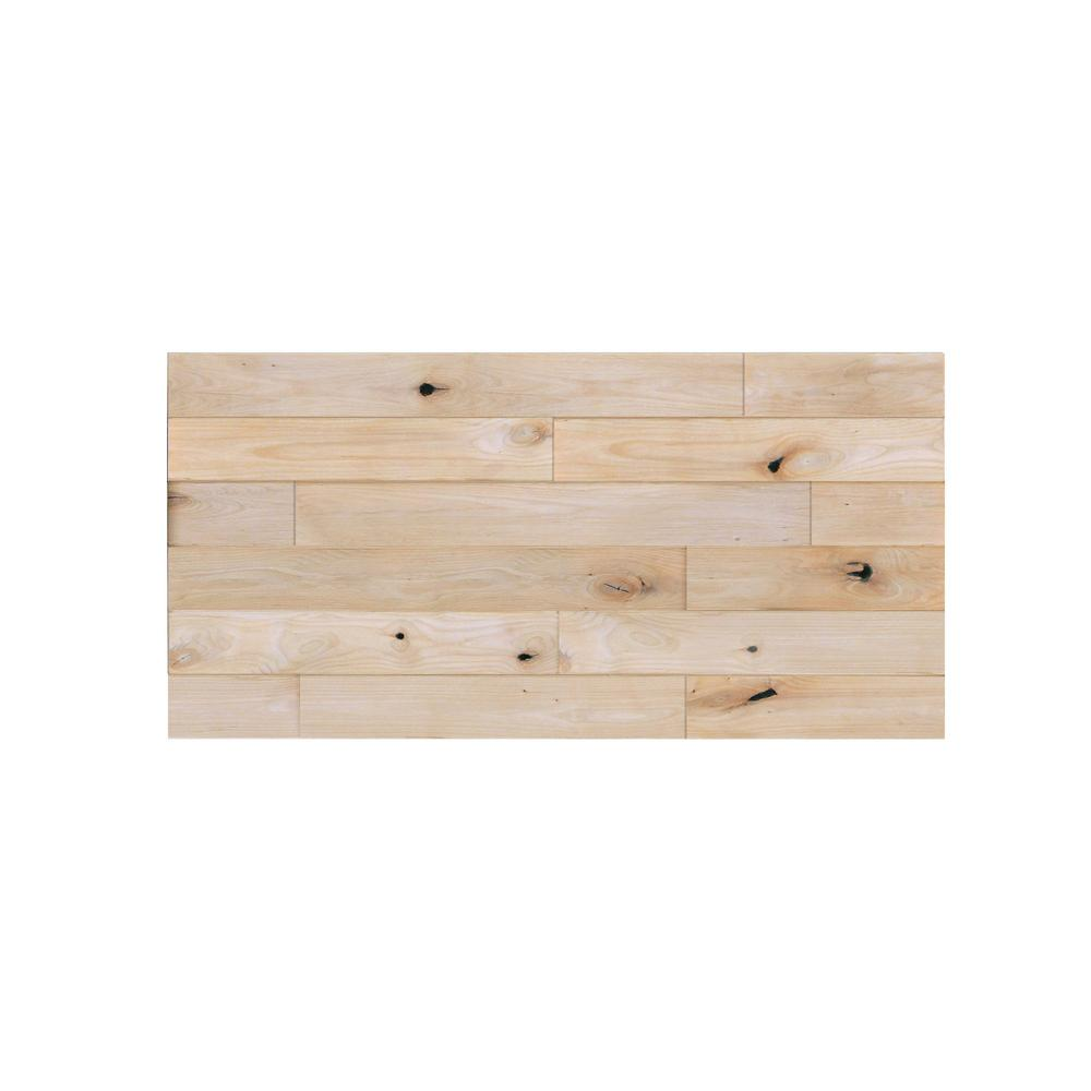3 4 Panelled Accent Wall: Pacific Entries 1 In. X 48 In. X 24 In. Unfinished Knotty