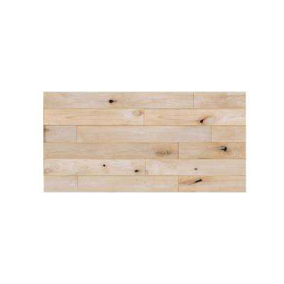 1 in. x 48 in. x 24 in. Unfinished Knotty Alder Wood Express Wall Accent Panel (4-pack)