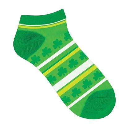 Shamrock and Stripe St. Patrick's Day Ankle Socks (2-Count, 9-Pack)