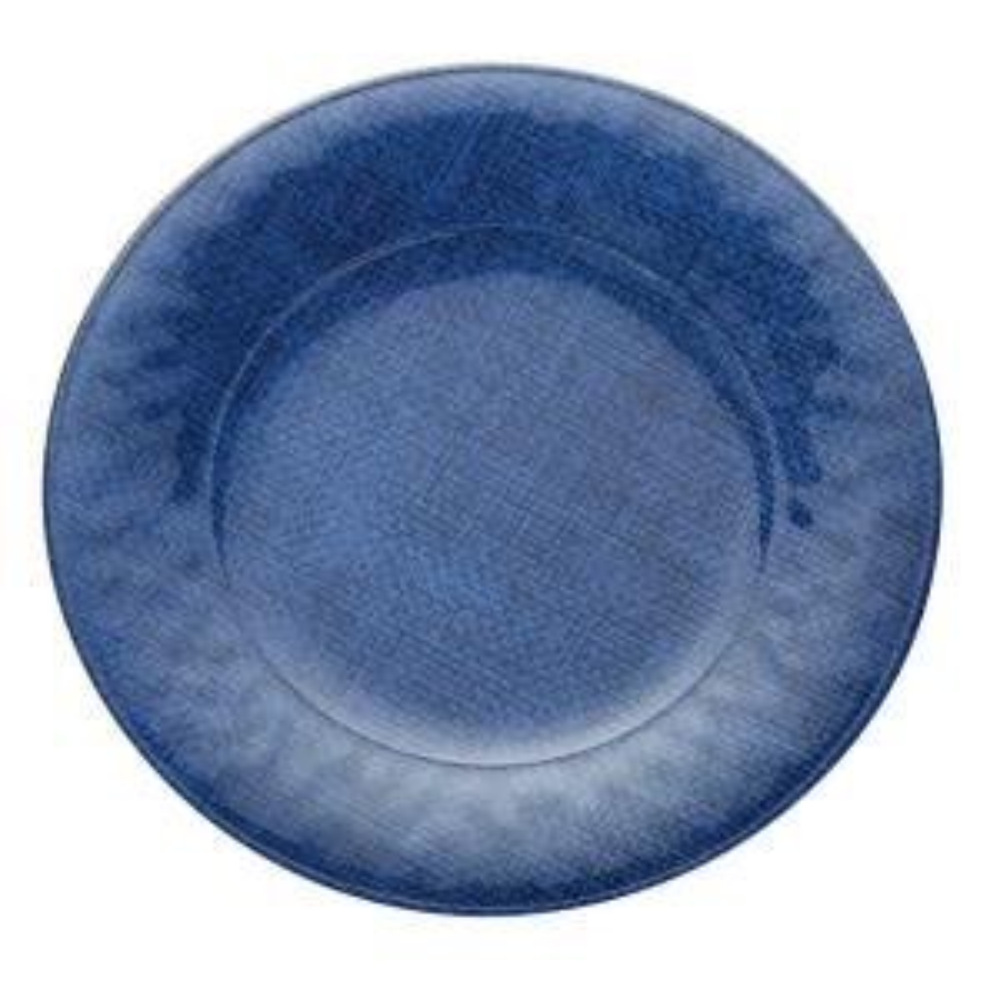 Melamine 8.5 in. Salad Plate in Blue (Set of 4)
