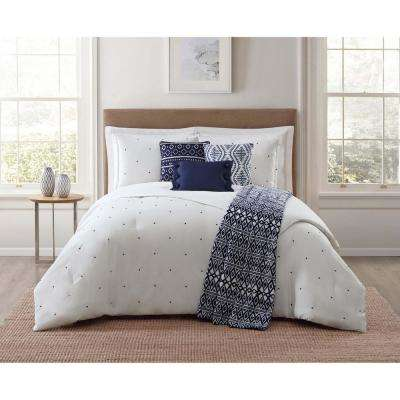 Towson 7-Piece White King Comforter Set