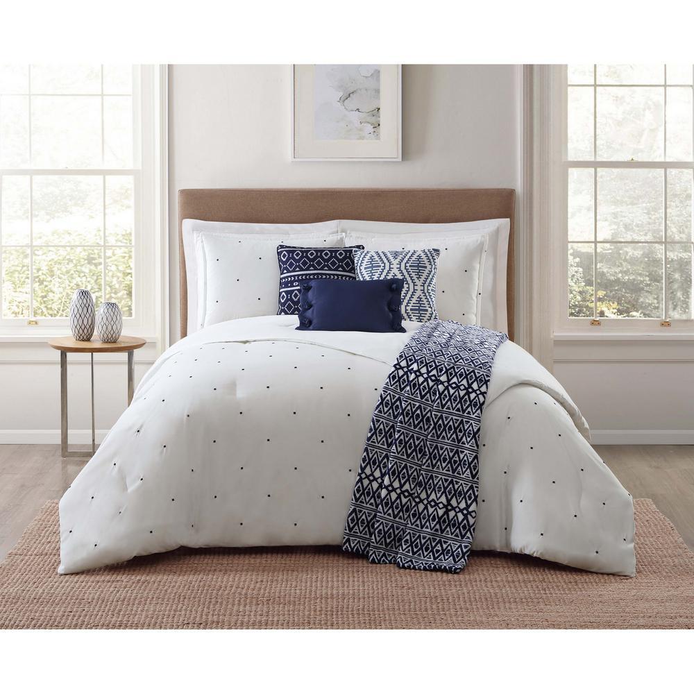 Towson 7-Piece White King Comforter Set