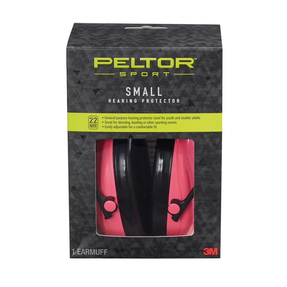 3M Peltor Sport Small Pink Earmuffs (Case of 6), Reds/Pinks