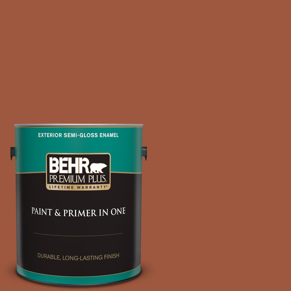 Behr Premium Plus 1 Gal Home Decorators Collection Hdc Ac 01 Nouveau Copper Semi Gloss Enamel Exterior Paint Primer 534001 The Home Depot