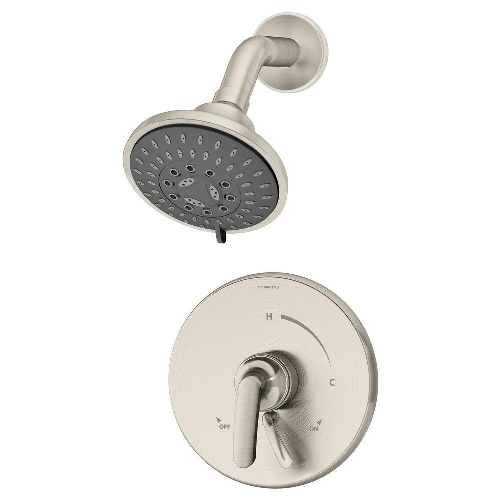 Symmons Elm 1-Handle Shower Faucet in Satin Nickel (Valve Included)