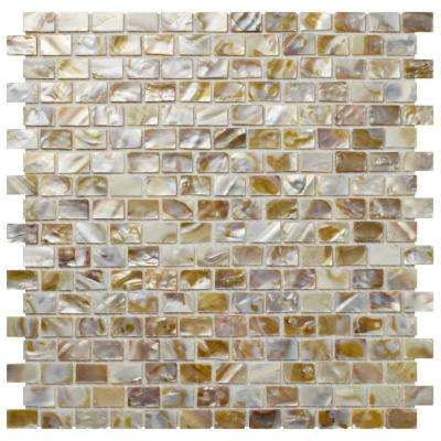 Conchella Subway Natural 11-3/4 in. x 11-3/4 in. x 2 mm Natural Seashell Mosaic Tile