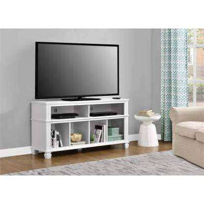 Woodcrest White 55 in. TV Stand