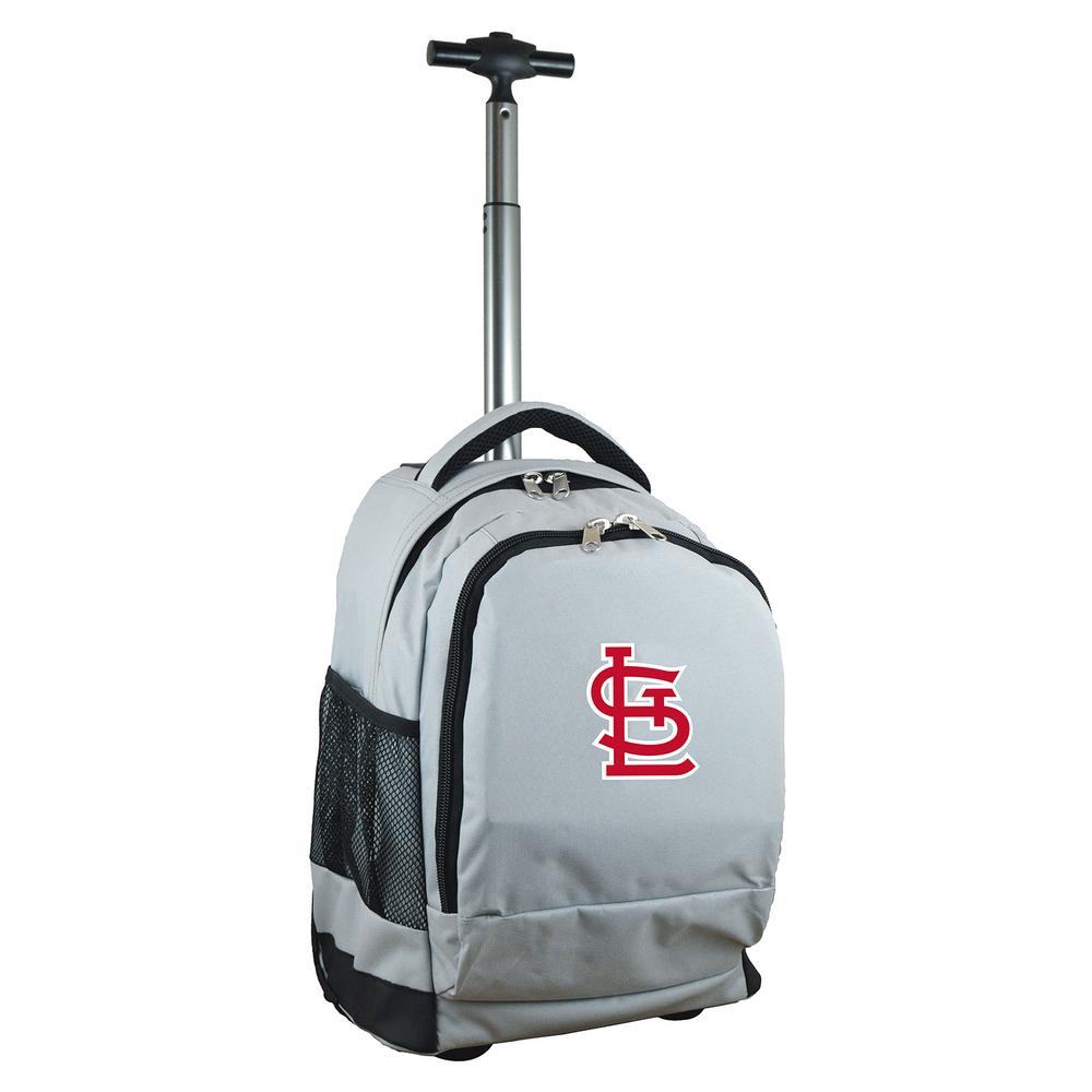 MLB St Louis Cardinals 19 in. Gray Wheeled Premium Backpack