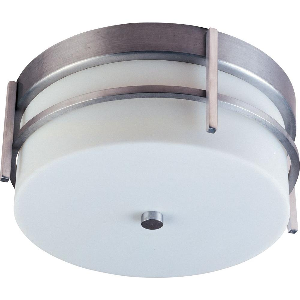 Maxim Lighting Luna 2-Light Brushed Metal Outdoor Ceiling Mount