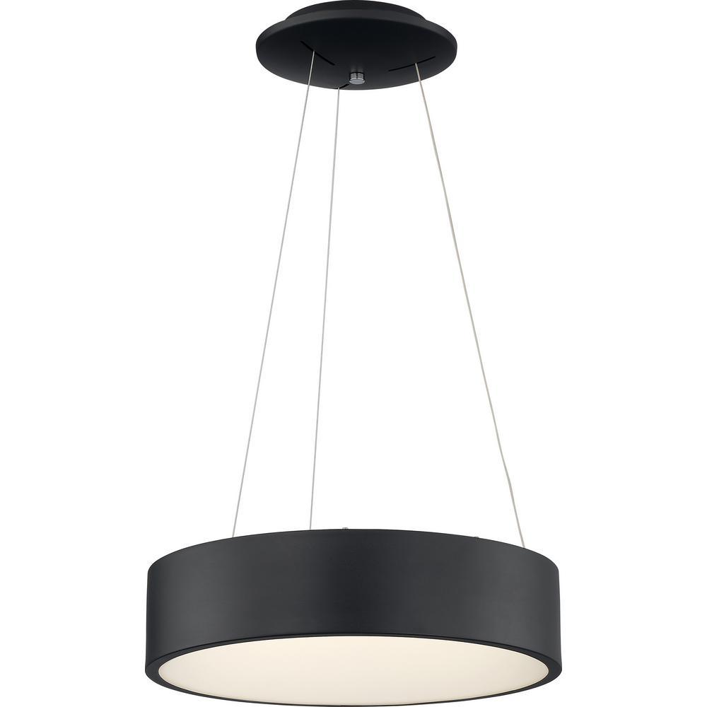 1-Light Black LED Pendant Light