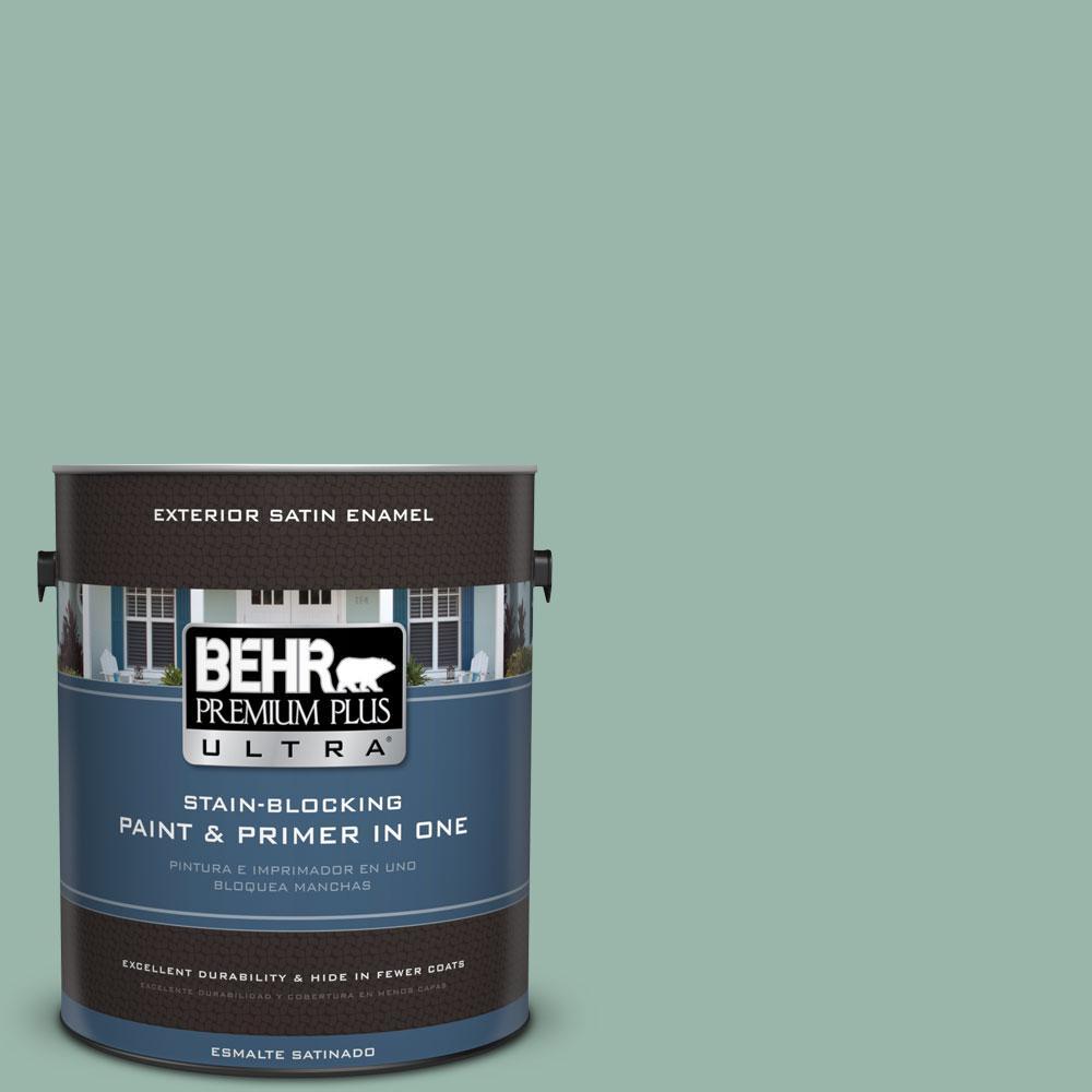 BEHR Premium Plus Ultra 1-gal. #S420-3 Nile River Satin Enamel Exterior Paint