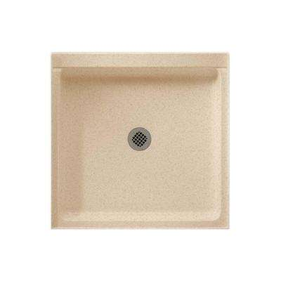 42 in. x 36 in. Solid Surface Single Threshold Shower Floor in Bermuda Sand