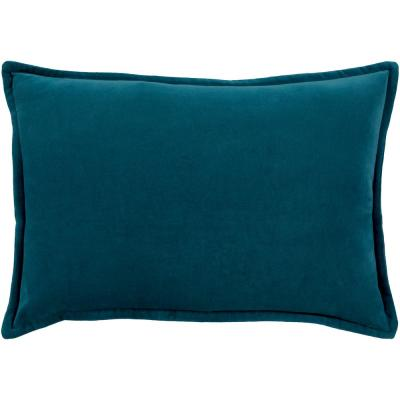 Velizh Blue Solid Polyester 19 in. x 19 in. Throw Pillow