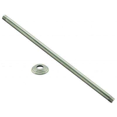 48 in. Ceiling Mounted Shower Arm with Flange Satin Nickel