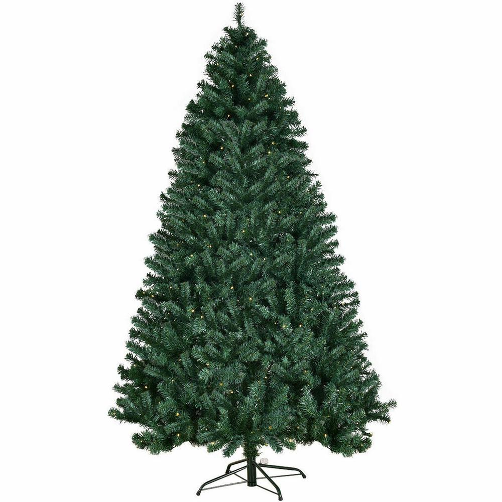 Pvc Christmas Trees.Costway 7 5ft Pre Lit Hinged Pvc Artificial Christmas Tree With 400 Led Lights And Stand