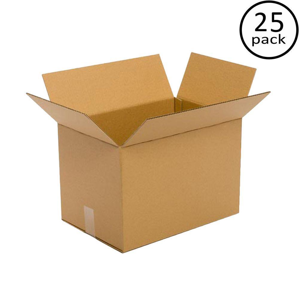 Plain Brown Box 18 in. x 12 in. x 12 in. 25-Box Bundle