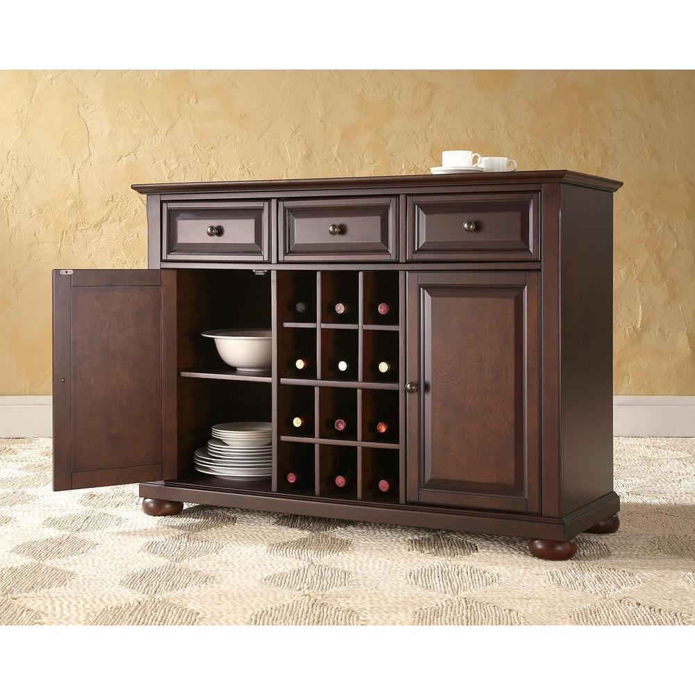 Crosley Alexandria Mahogany Buffet Kf42001ama The Home Depot