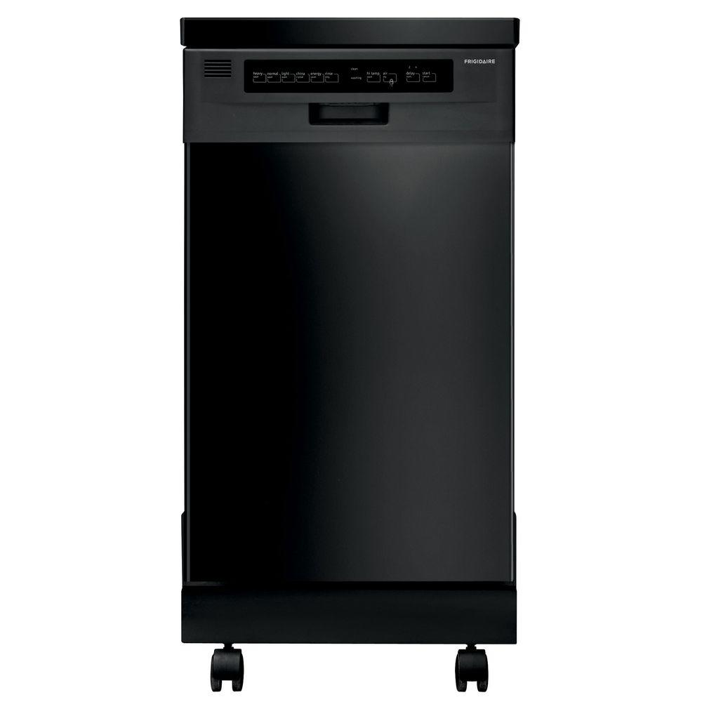 Frigidaire 18 in. Portable Dishwasher in Black with Stainless Steel Tub, ENERGY STAR, 59 dBA