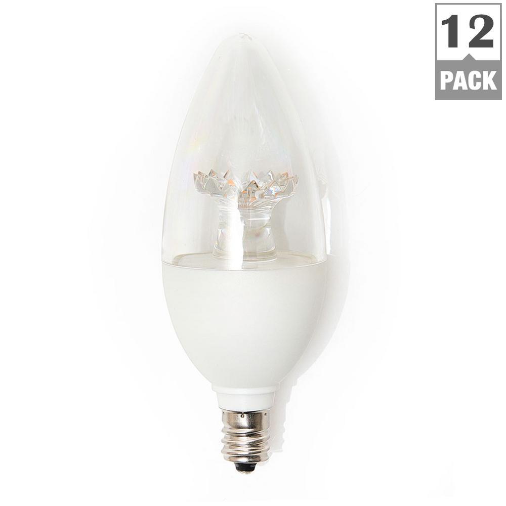 40-Watt Equivalent B11 Dimmable LED Light Bulb, Soft White (12-Pack)