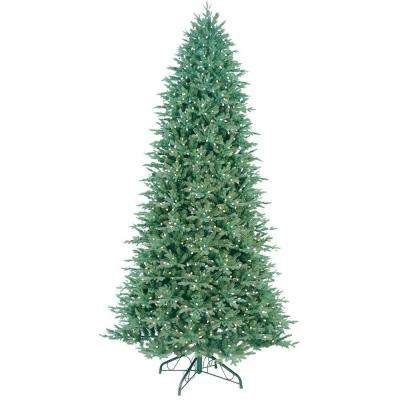 10.5 ft. Indoor Pre-Lit LED Just Cut Deluxe Aspen Fir Artificial Christmas Tree with Color Choice Lights and 1-Plug