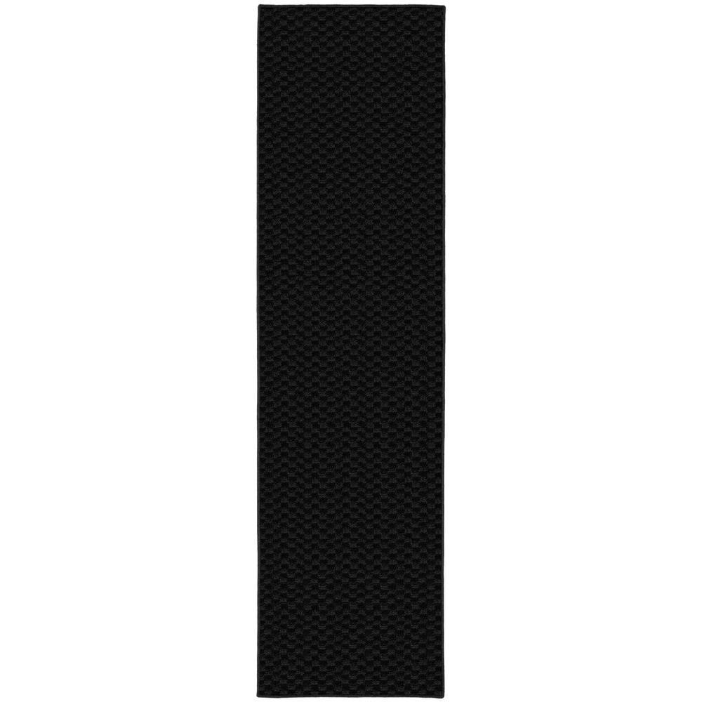 Medallion 2 Ft. x 8 Ft. Area Rug Runner Black