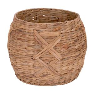 12 in. x 16 in. Water Hyacinth Round Basket