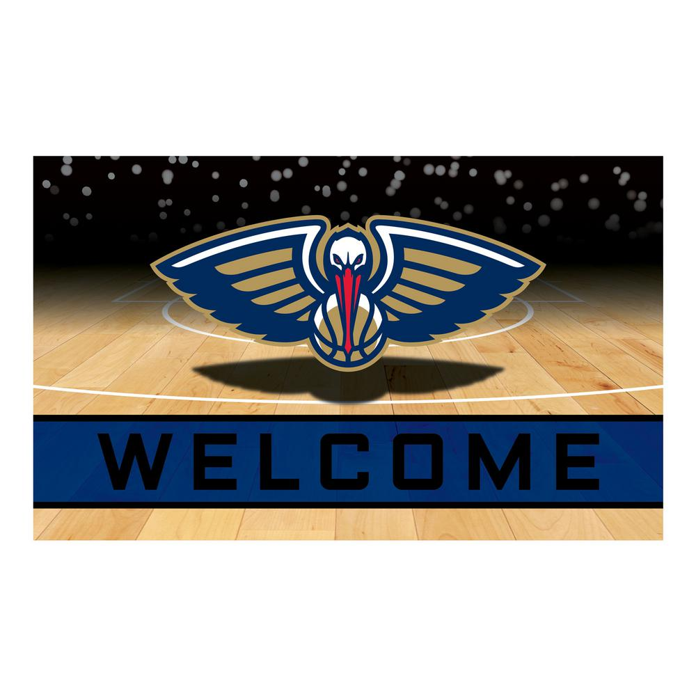 Fanmats nba new orleans pelicans 18 in x 30 in rubber for Floor depot new orleans